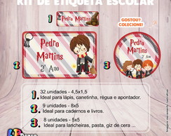 Kit Etiqueta Escolar - Harry Potter