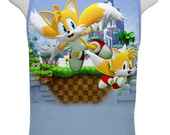 Camiseta Game Sonic Miles Tails - Regata
