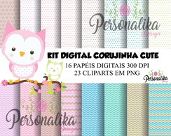 KIT DIGITAL CORUJINHA CUTE