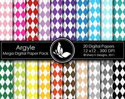 Kit Digital Papéis Estampados