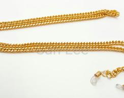 e516c78ab9f7 segura óculos corrente dourado elo duplo 5mm no Elo7 | San Lee artesanato  (E09D37)