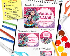 Etiqueta Escolar Personalizada Ever After High