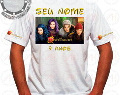Camiseta Os Descendentes Personagens Perfil ah00584