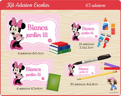 Kit Etiqueta Escolar Minnie