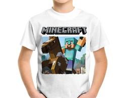 ... Camiseta Infantil Minecraft Cavalo a00367cd49aae