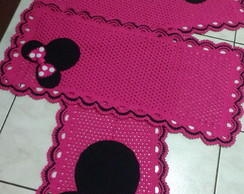 kit passadeira mais tapetes Minnie pink