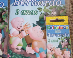 Kit colorir 3 porquinhos
