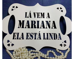 Placa Divertida MDF branco