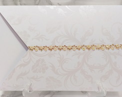 Envelope Arabesco Branco Com Strass