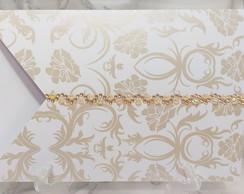Envelope Arabesco Bronze com Strass