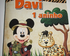 Revista para colorir Mickey Safari