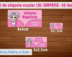 Kit Etiqueta escolar - LOL SURPRISE- 40 Itens