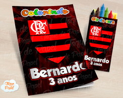 Kit colorir com giz de cera Flamengo