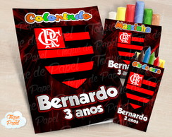 Kit colorir giz massinha Flamengo