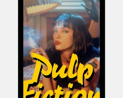 Quadro Pulp Fiction Mia Walace uma Thurman