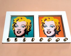 Porta Colar Marilyn Monroe Pop Art (Branco)