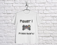 Camisetas Player 1 e Player 2