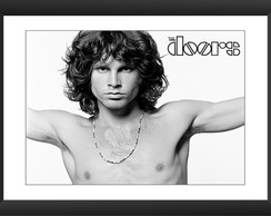 Quadro The Doors Jim Morrison Rock Banda Preto Branco Pubs