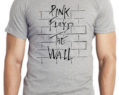 camiseta blusa pink floyd rock musica the wall disco