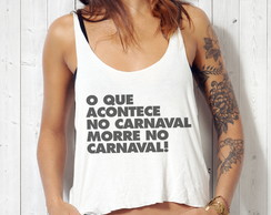 Blusa Cropped Carnaval