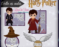 Etiquetas escolar Harry Pottet 100 unidades