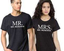 Camiseta Personalizada Casal Mrs & Mr.