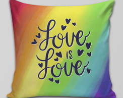 Capa de Almofada LGBT Love is Love Colorida