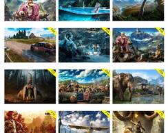 Kit 5 Placas Decorativas 30x20cm Farcry PC Games