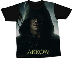 Camiseta Arrow Série Oliver Queen Blusa Camisa Estampada