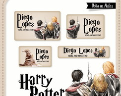 Etiqueta escolar Harry Potter