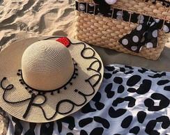 Kit Bolsa e Chapeu de Praia Personalizado Ferias   Elo7 4b90cdea09