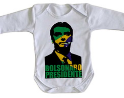 20b031f2dd ... Body bebê roupa nenê Bolsonaro Presidente cor Brasil verde