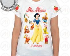 c92dc8e5b3 Camiseta Branca de Neve com Pássaro Azul no Elo7 | Camisetas P4 (E0BEEB)