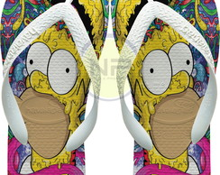 Chinelo Havaianas Personalizados The Simpsons - Homer