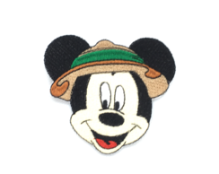 Patch Bordado Termocolante Rosto Mickey Safari