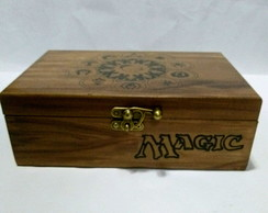 caixa madeira Magic the gathering 30x20
