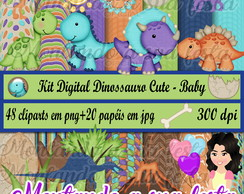 Kit Digital Dinossauro Cute - Baby