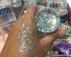 Glitter Mix Gel - Pequeno 4g - KIT COM 50