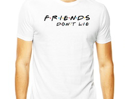 Camiseta Friends Joey Ross Dont Lie Friends Amigos Masculina