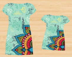 9eb3efe400 ... Vestido Mãe e Filha Mandala Floral - 2 peças