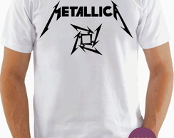 Camiseta Banda Metallica Heavy Metal