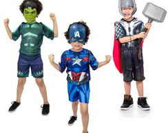 aa6ac81fbf1 Fantasia Hulk e Capitão America Com escudo e Mascaras no Elo7