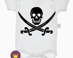 Body Infantil Pirata Caveira Espada Anonymous