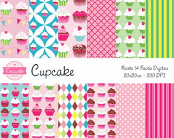 Kit Papel Digital - Cupcake II