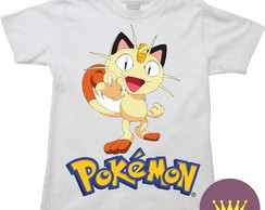 Camiseta Infantil Meowth Miau Pokemon