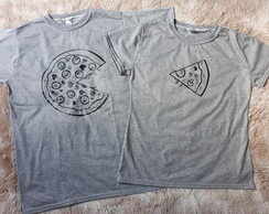 Kit 2 Camisetas Casal Namorados - pizza