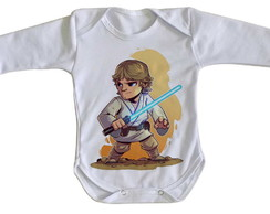 Body bebê roupa nenê mini Star Wars Luke Skywalker jedi