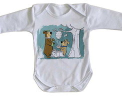 ... Body bebê roupa nenê Zé Colméia e Catatau urso hanna barbera 00d78e4653eb9