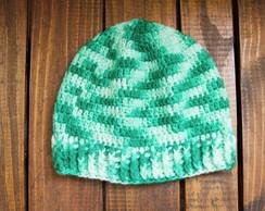 Touca de Croche Verde Mesclado Unissex  5c3b415ca15