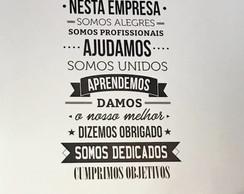 Adesivos Decorativos Frases Famosas Empresas Elo7